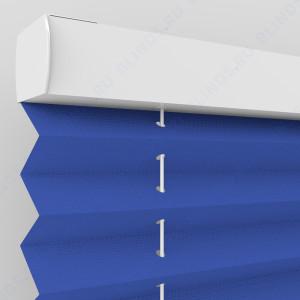 Штора плиссе тканевая Опера синий