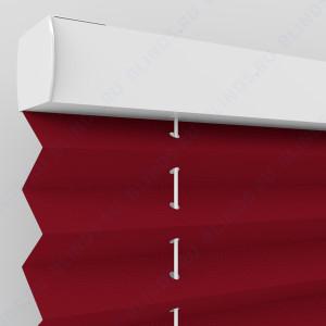 Штора плиссе тканевая Опера красный
