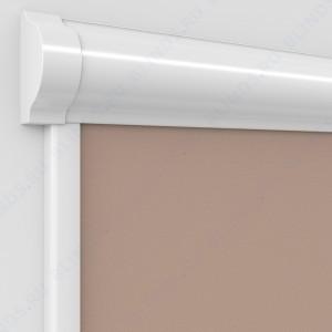 Рулонные тканевые жалюзи Уни-2 Альфа блэкаут свело-коричневый с алюминиевым слоем