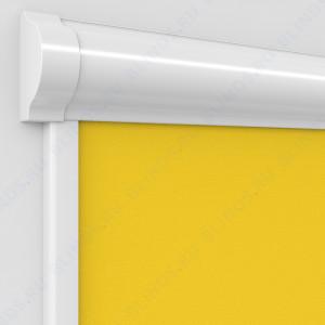 Рулонные тканевые жалюзи Уни-2 Альфа ярко-желтый
