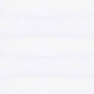 Штора плиссе тканевая Креп перла белый