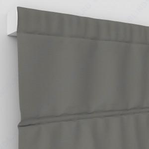 Римские шторы Блэкаут однотонный коричневый