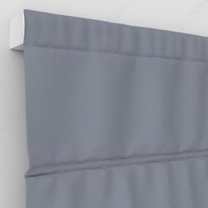 Римские шторы Блэкаут однотонный серый