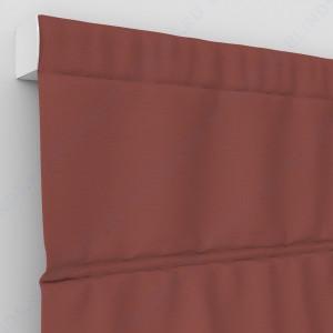 Римские шторы Блэкаут однотонный терракота