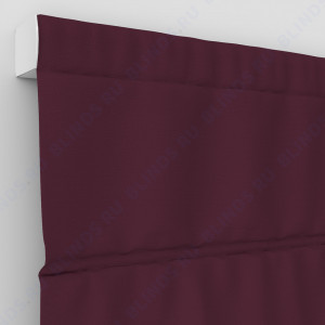 Римские шторы Блэкаут однотонный тёмно-красный