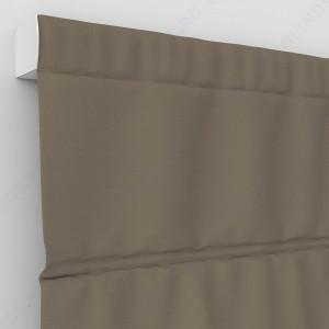 Римские шторы Блэкаут однотонный светло-коричневый