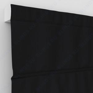 Римские шторы Блэкаут однотонный чёрный