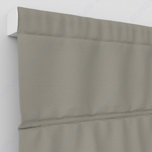 Римские шторы Рогожка серо-коричневый