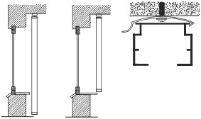 Крепление вертикальных жалюзи к потолку или в проём